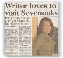 Sevenoaks Chronicle - Writer loves to visit Sevenoaks